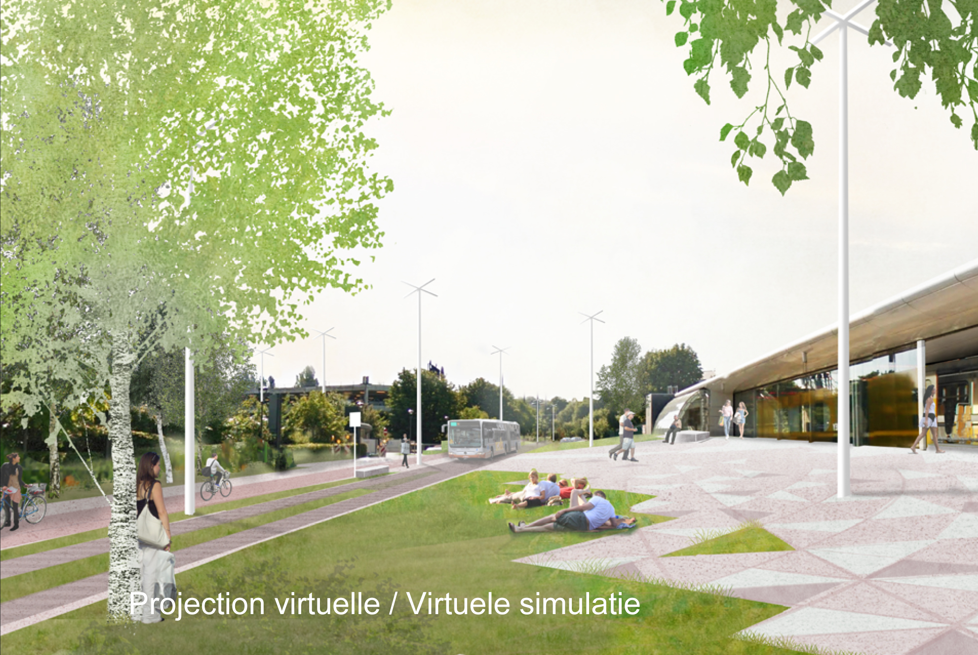 Projection virtuelle / Virtuele simulatie